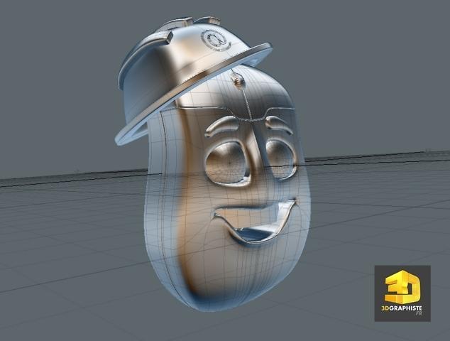 modelisation 3d personnage d'un personnage de souris d'ordinateur