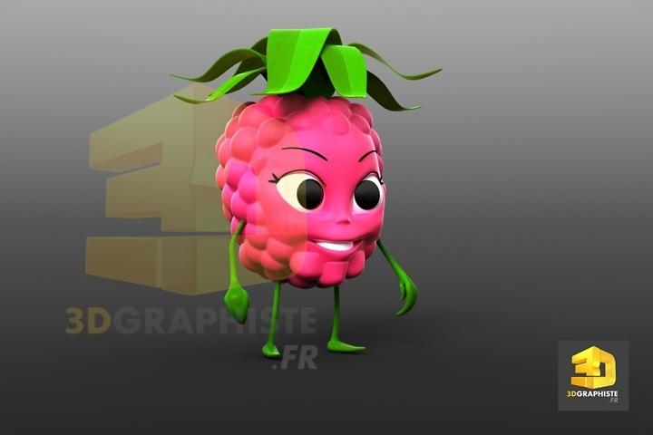 mascotte fruit - framboise