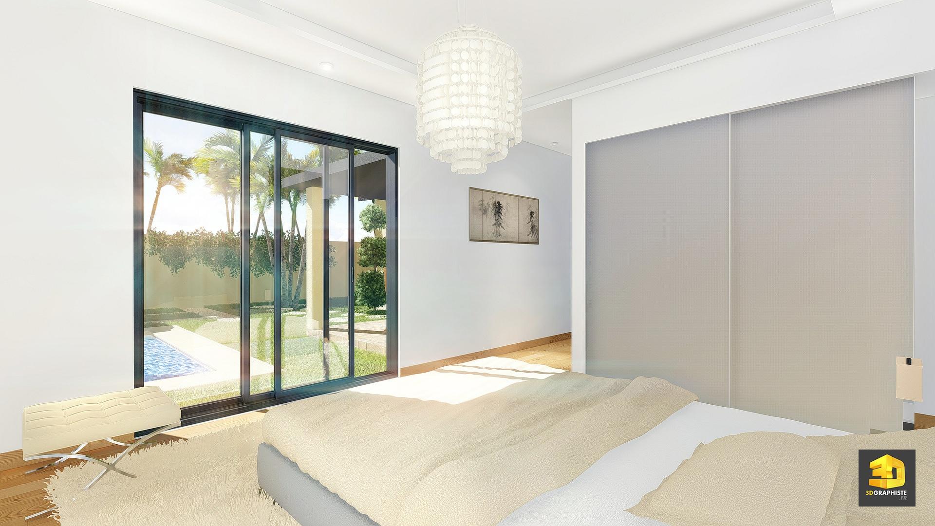 Illustrations 3d d 39 architecture villas gabriel for Perspectives dune chambre