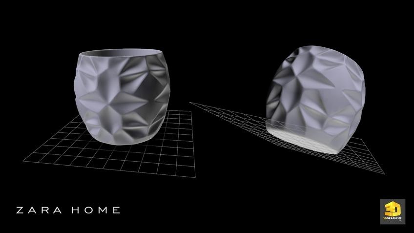 Modélisation 3D CAO verres Zara Home