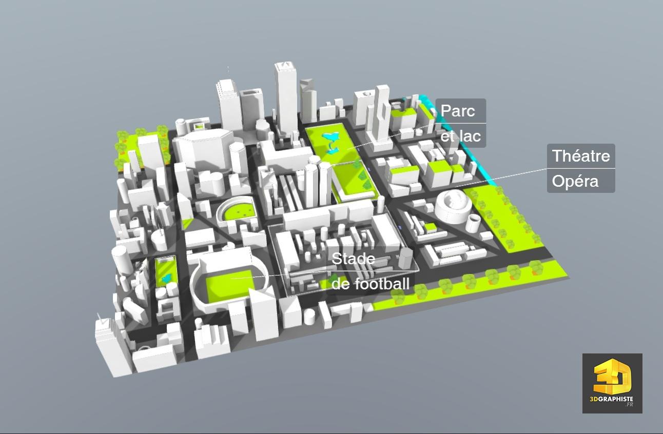 Plan De Ville En 3d Interactive Webgl 3dgraphiste Fr
