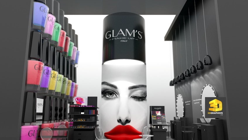 rough stand cosmétiques Glam's