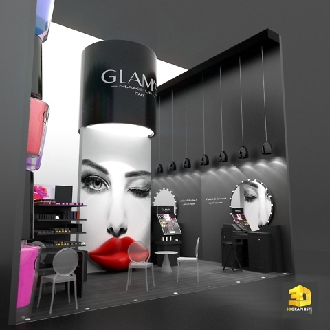 stand cosmetiques makeup Glam's