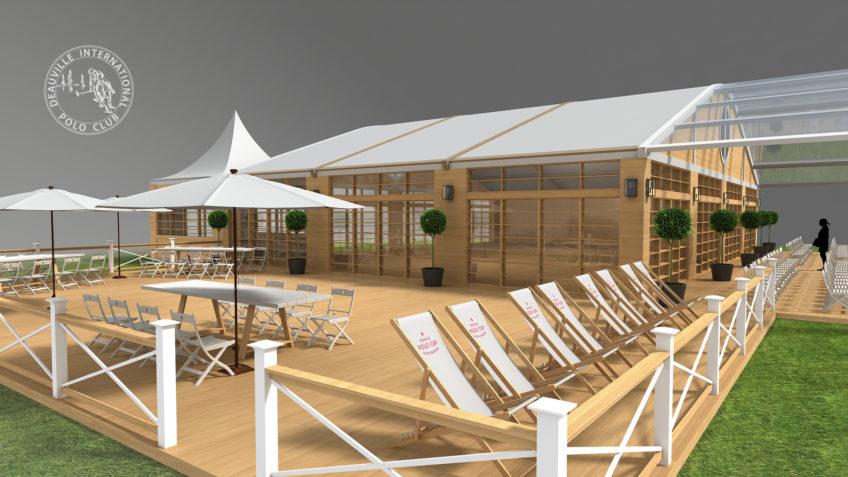 tente évènementielle Deauville Polo Club
