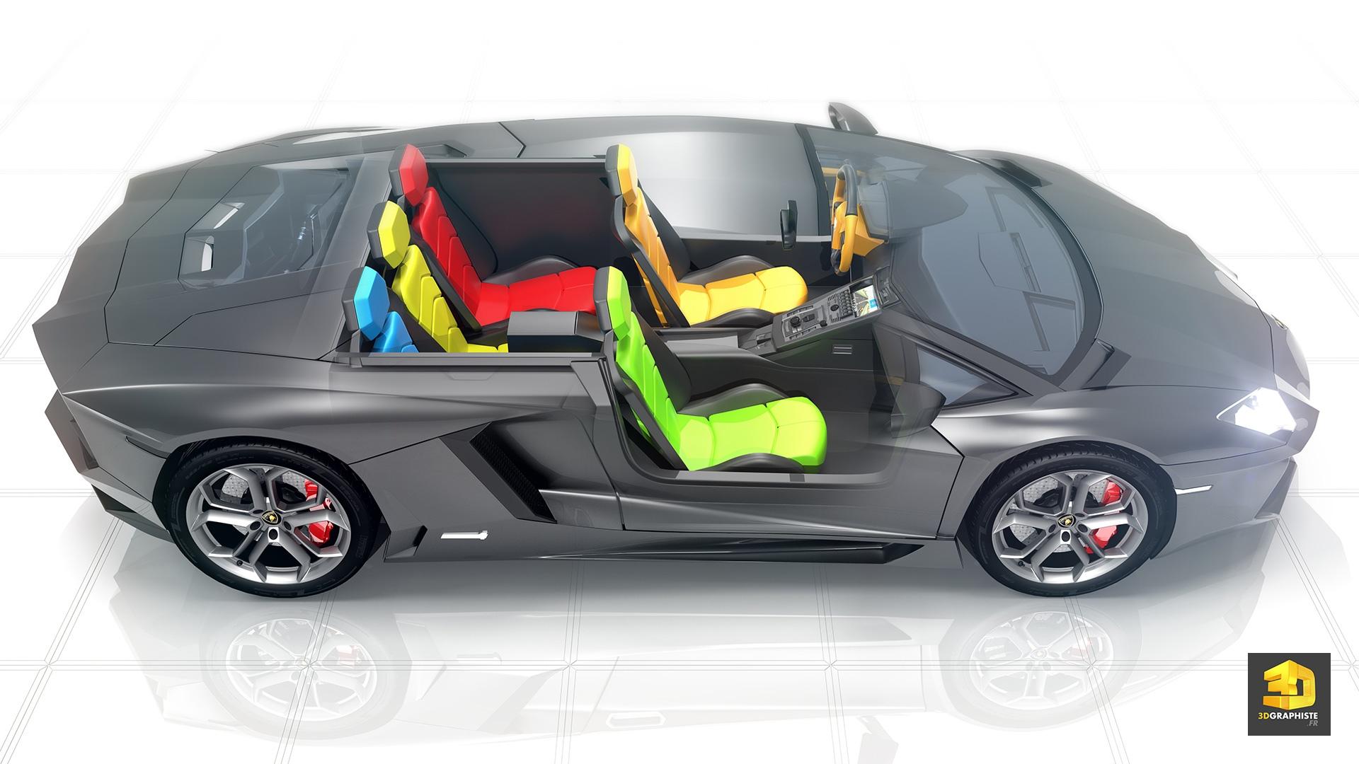 Lamborghini aventador mod lisation 3d int rieure for 3d modelisation