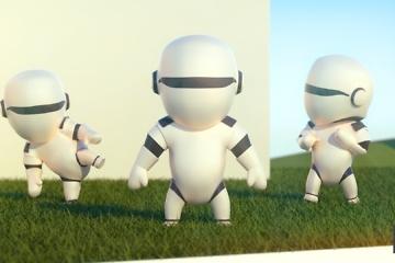 personnage 3d - petit robot chibi