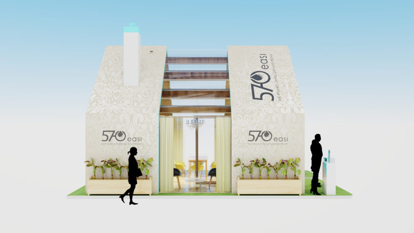 stand en forme de maison - 570-easi - salon RAMF