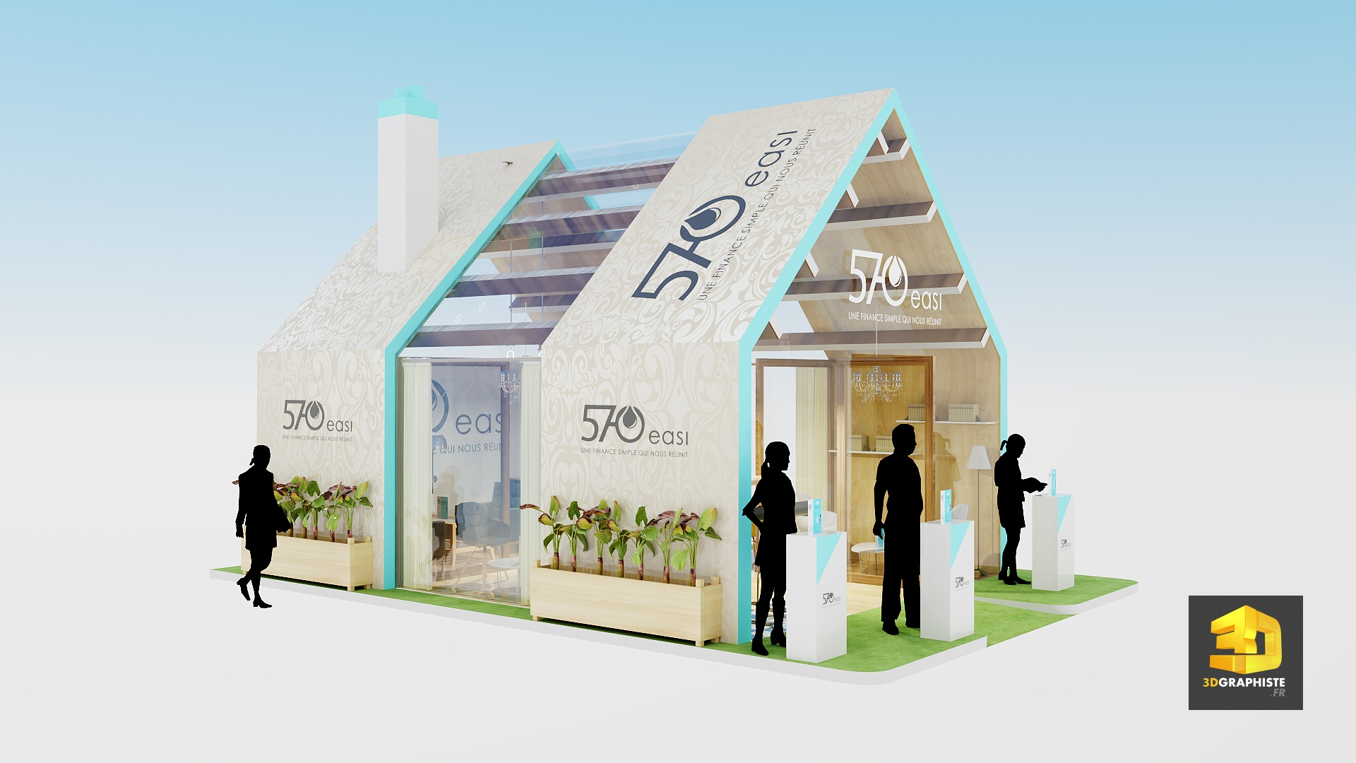 Designer de stands 3dgraphiste fr for Maison immobilier