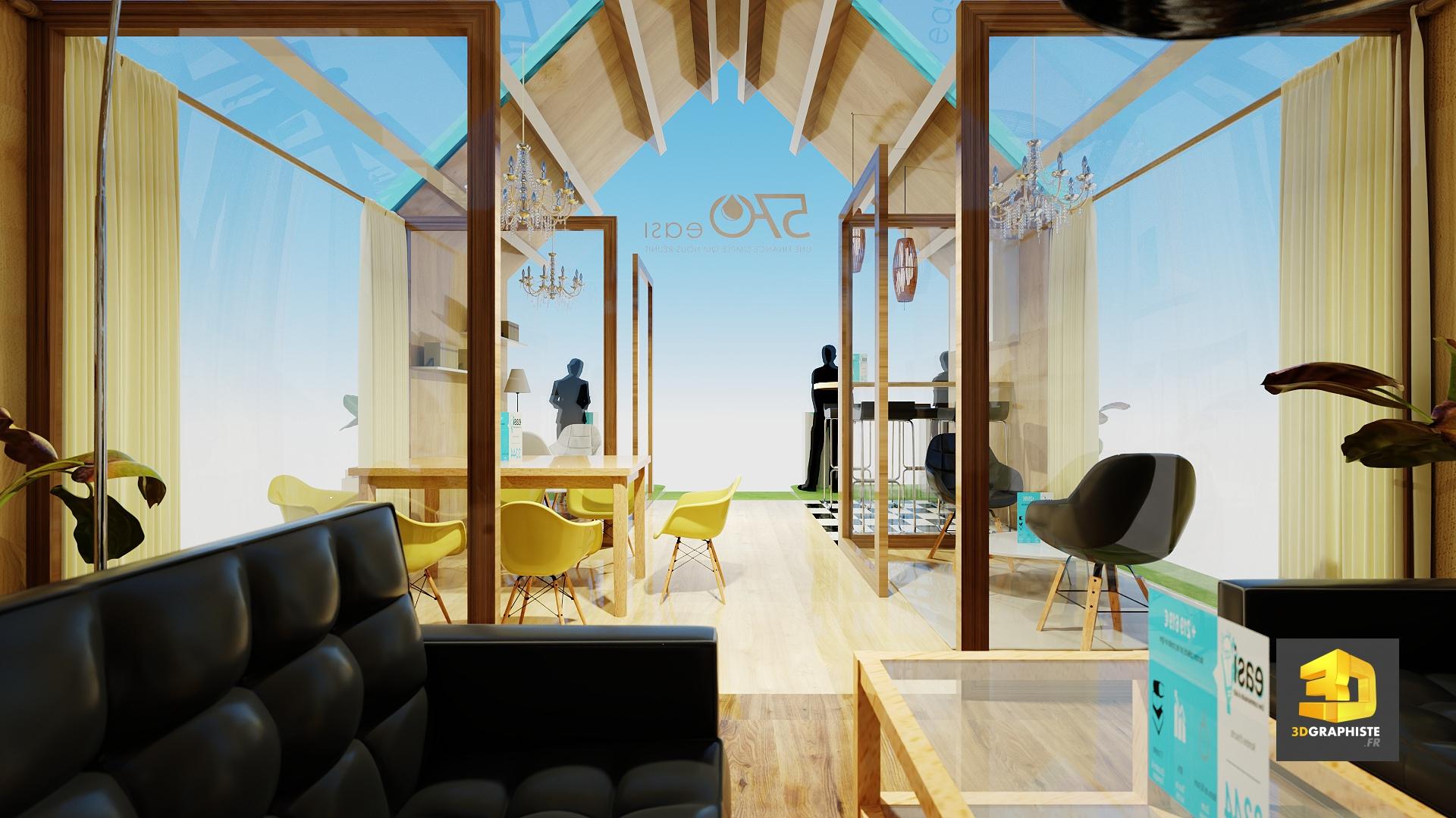 Stand maison 570 easi salon ramf 3dgraphiste fr for Salon immobilier