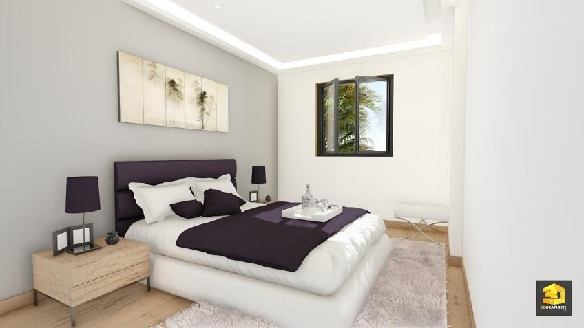 illustration 3d chambre - villas Domenjod