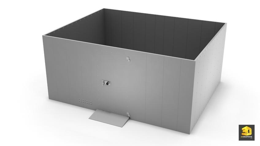 modelisation 3d chambre forte hartmann-tresore