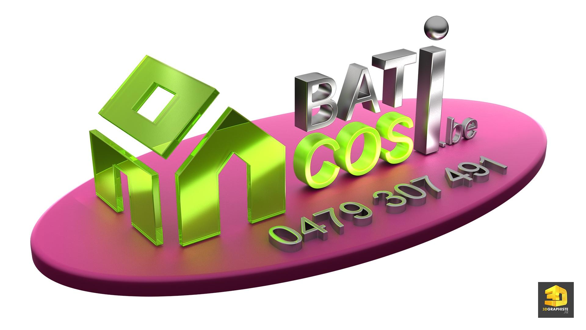 Mod lisation 3d d 39 un logo bati cosi 3dgraphiste fr for 3d modelisation
