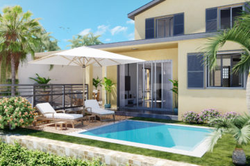 perspective 3d extérieure - villa Domenjod