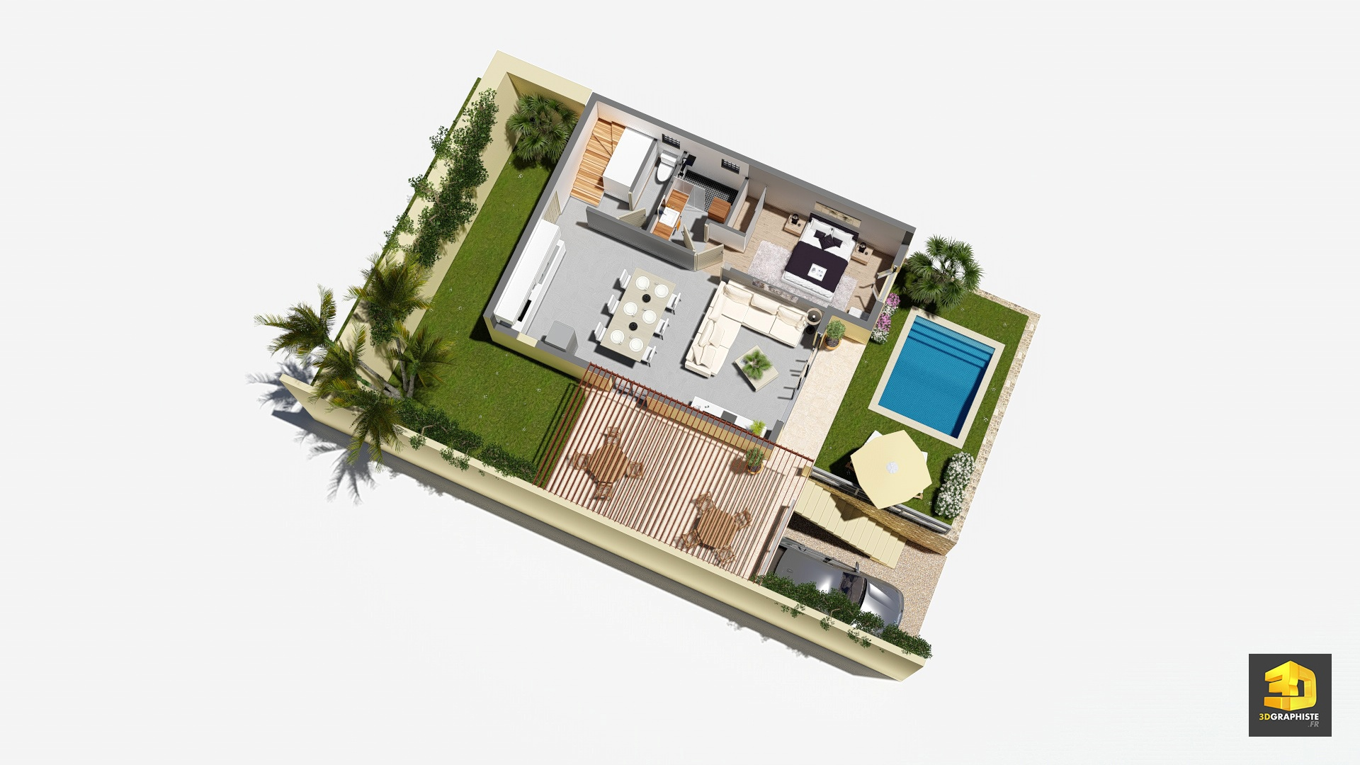 Perspectives 3d pour l 39 immobilier villas domenjod for Plans de villa