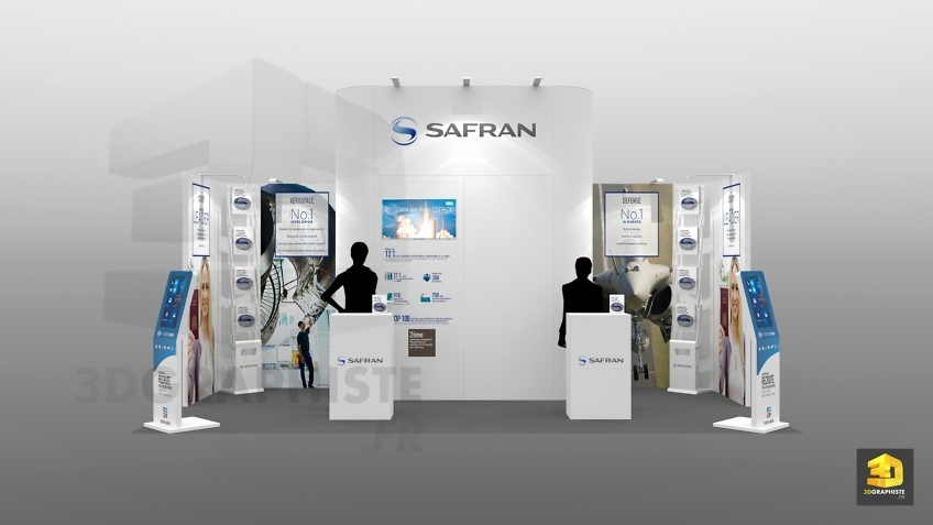 conception stand modulaire - safran 18m2