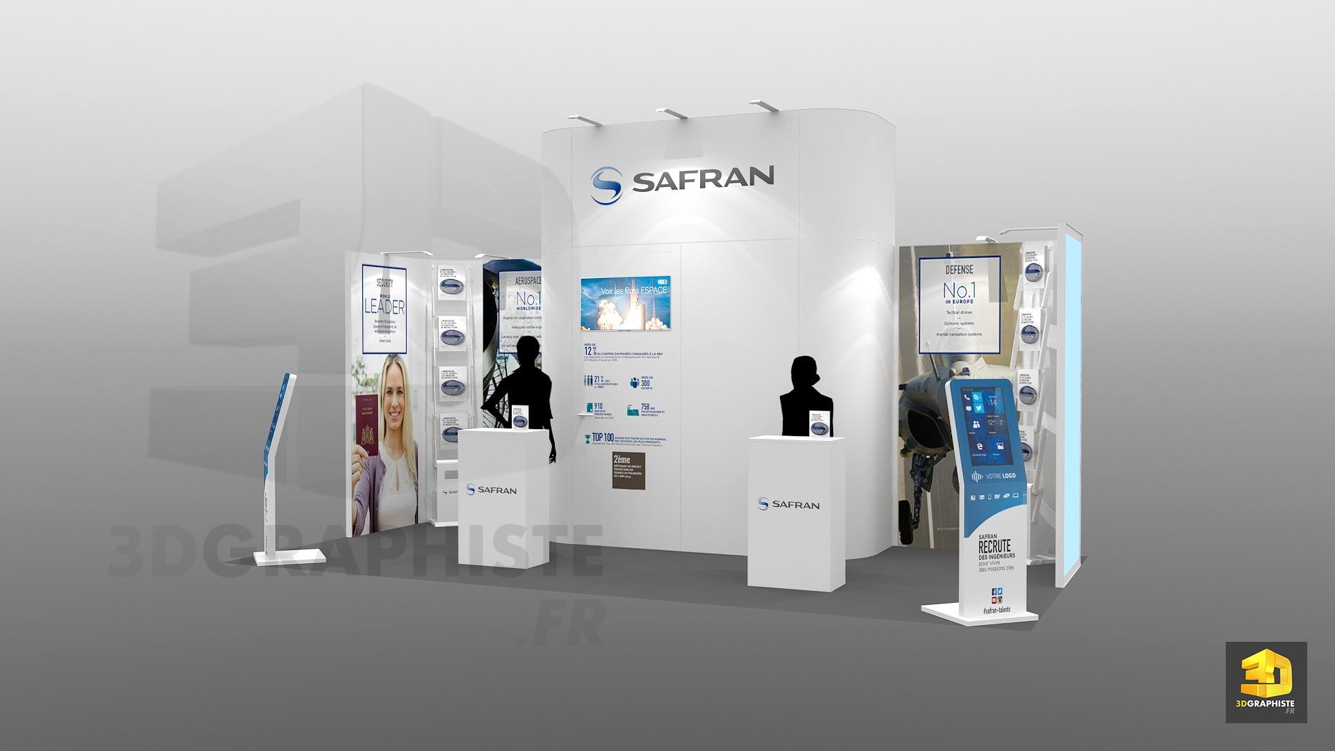 Stand modulaire safran pour salons tudiants 3dgraphiste fr for Porte de champerret salon etudiant