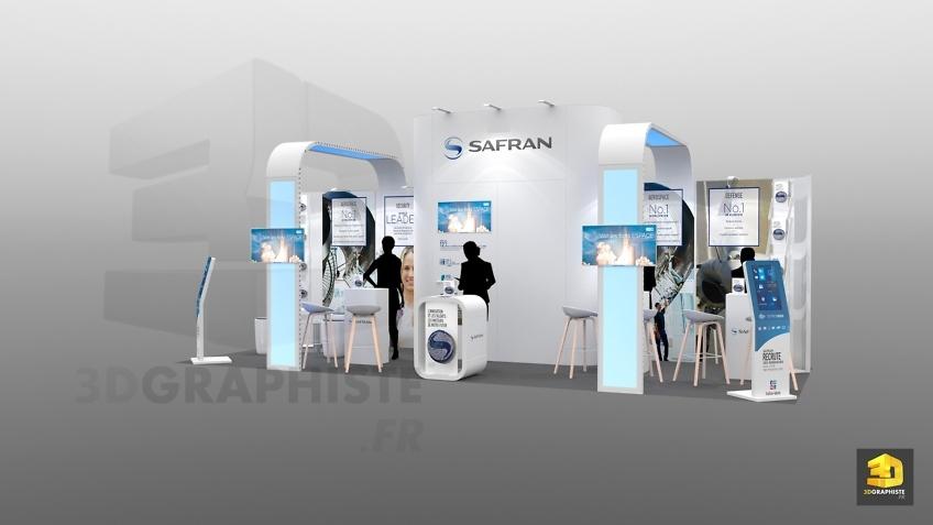 design de stand - salon etudiant safran 24m2