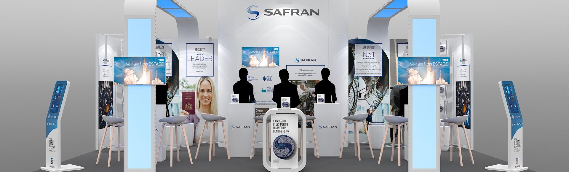 stand modulaire Safran pour salons étudiants