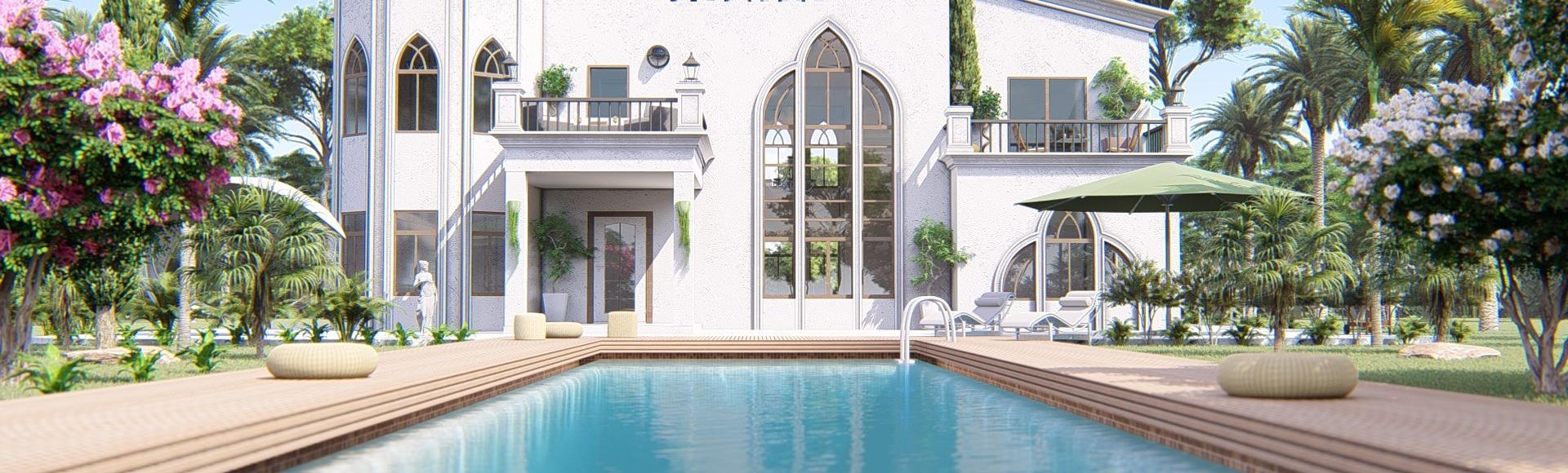 perspective immobilière de maison individuelle - Dubaï
