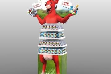 présentoir PLV - La vache qui rit