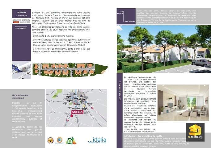 brochure - résidence Idelia-Saubens