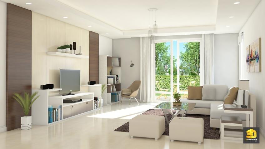 résidence Idelia-Saubens - perspective intérieure - séjour-terrasse