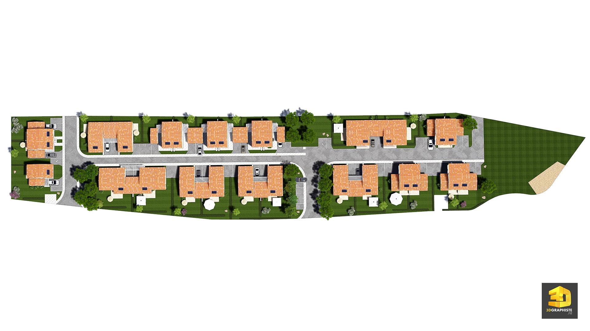 Résidence plan de masse idélia saubens résidence plan de masse idélia saubens résidence constituée de 27 villas en bande