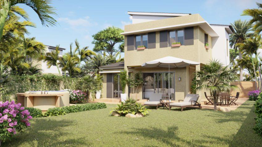 perspective 3d architecture - villas Payet