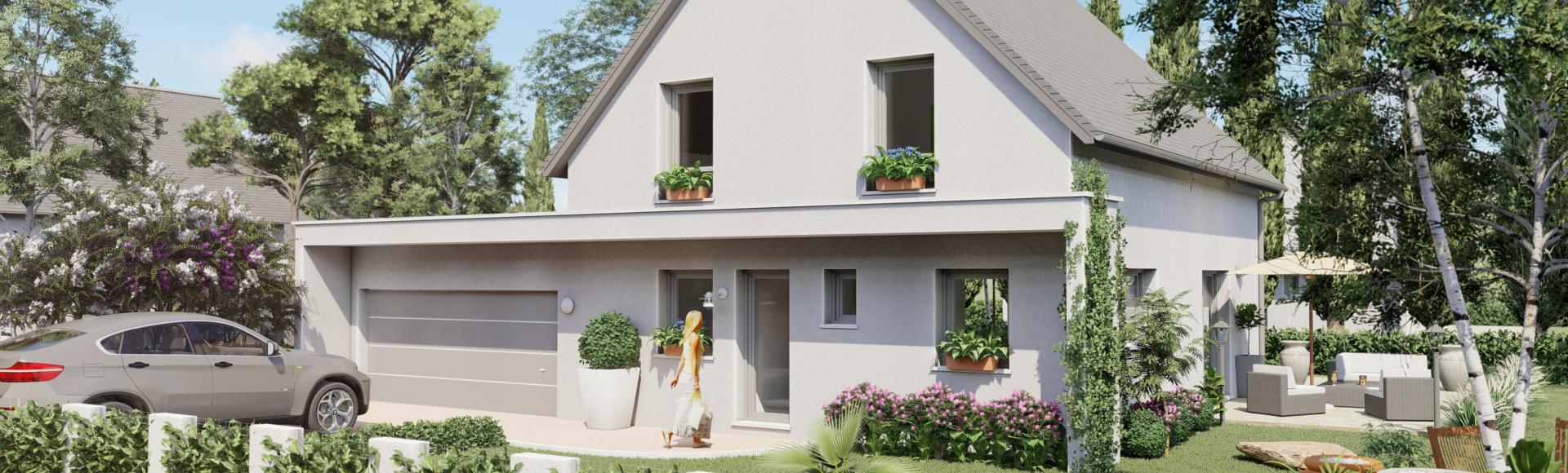 perspective 3d de maison à Souffelweyersheim