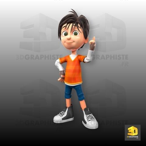personnage 3d enfant - le grand défi