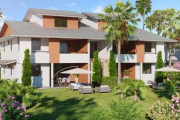 perspective 3d paysagère - résidence vivaldi Guyane