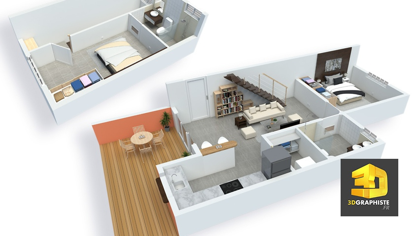 plan de vente - appartement t3 duplex - résidence Vivaldi