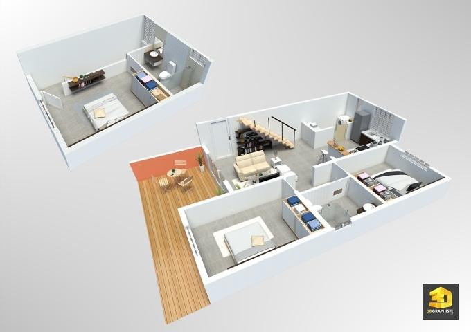 plan de vente - appartement t4 duplex - résidence Vivaldi