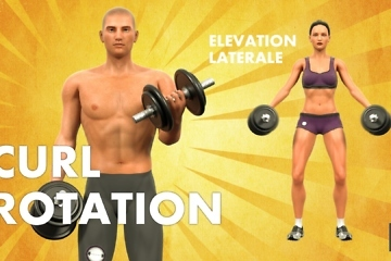 animation 3d personnages sportifs - musculation