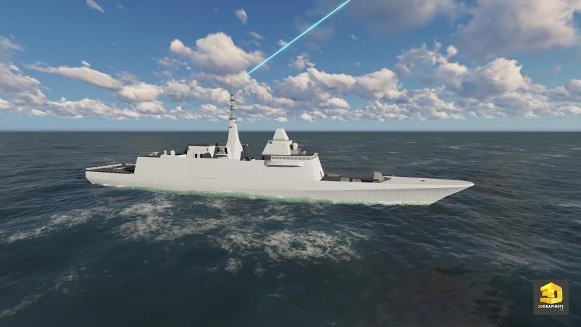 illustration 3d militaire défense - FREMM