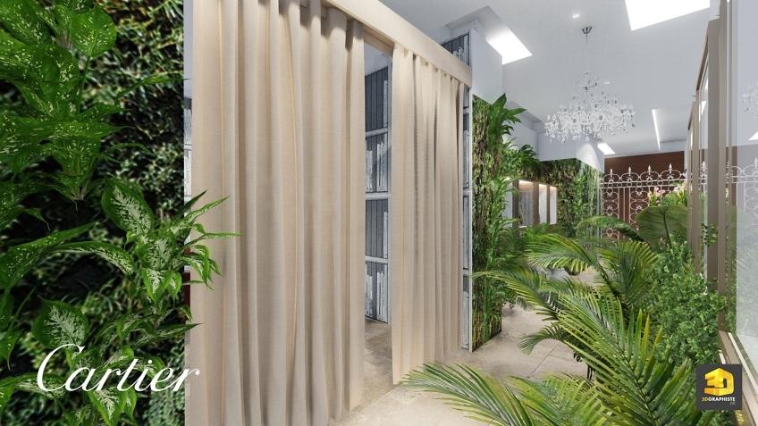 design intérieur - showroom cartier - entrée