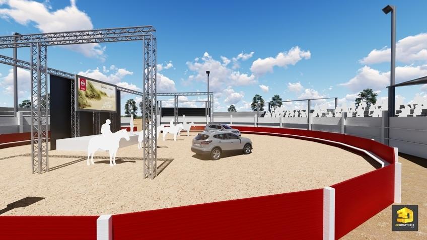 rough événement convention Nissan dans une arène Camarguaise