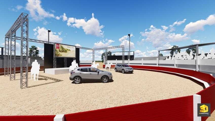 rough événementiel reveal Nissan arène Camargue