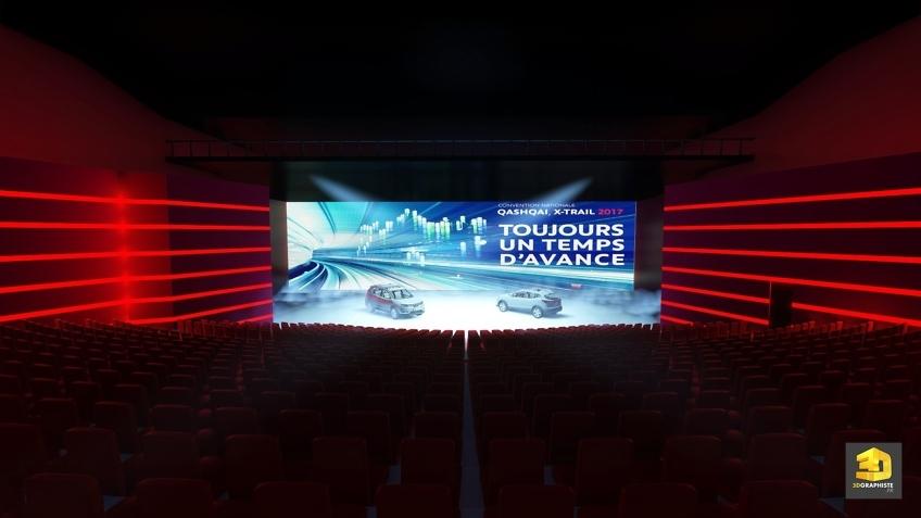 Rough événement Nissan - Plénière dans un amphithéâtre du Futuroscope