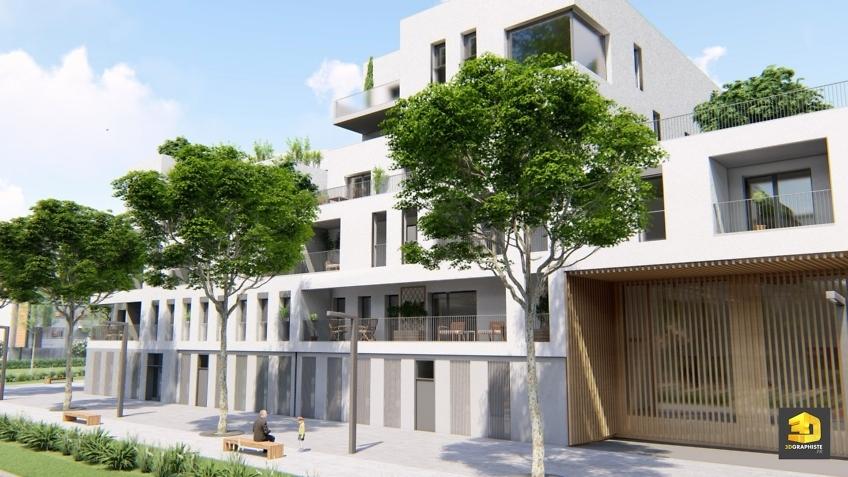 infographie 3d immobilier residence seniors Chambéry