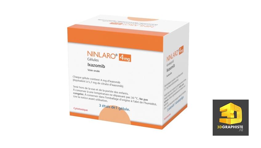 packaging médicament Takeda en infographie 3d