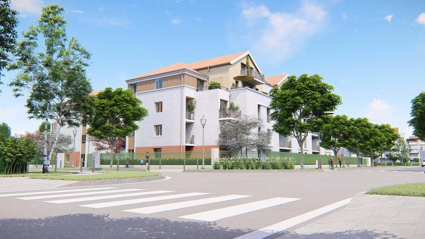 perspective 3d immobilière résidence étudiante Moissy