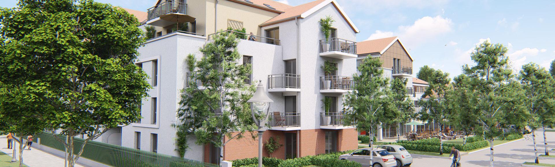 perspective 3d immobilière résidence étudiante Moissy 2
