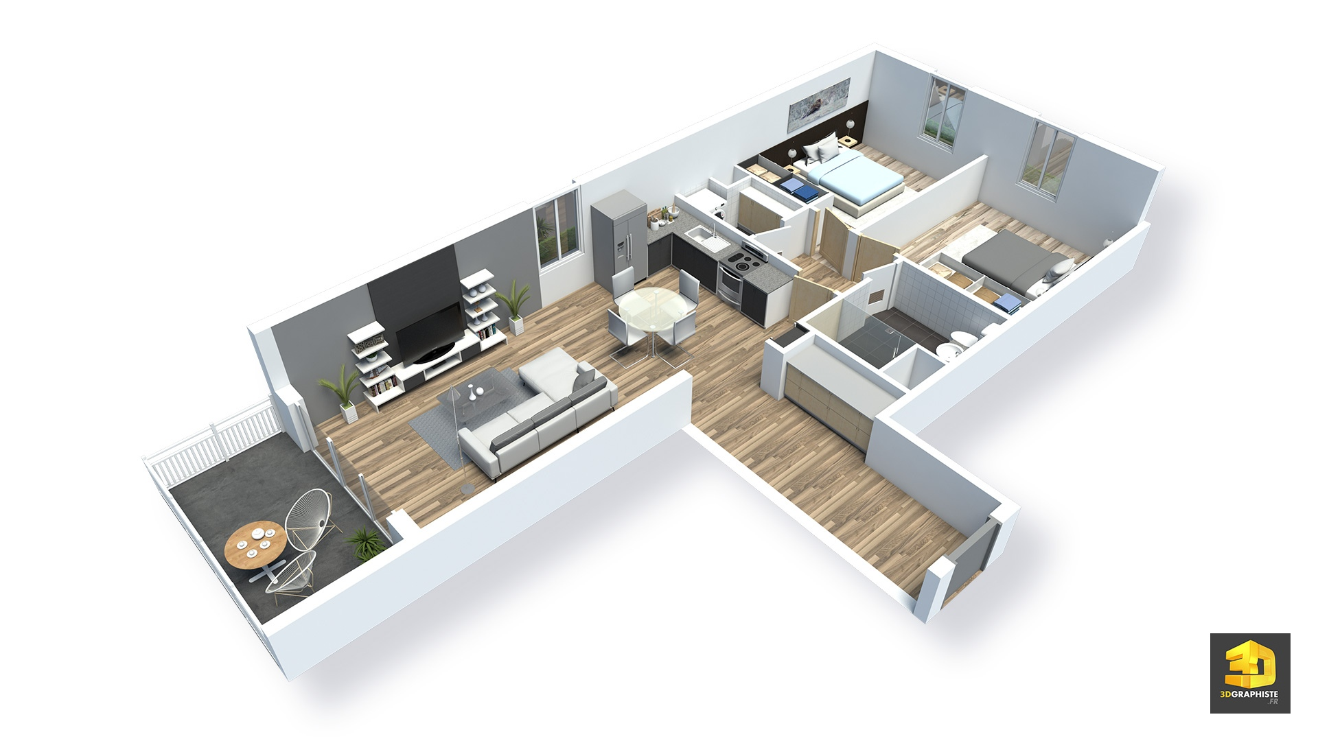 Plans Meubl S D Appartements En 3d R Sidence Saint Quay  # Plan Des Meubles