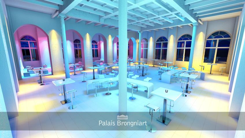 perspective 3d évènementielle - palais Brongniart - espace sud