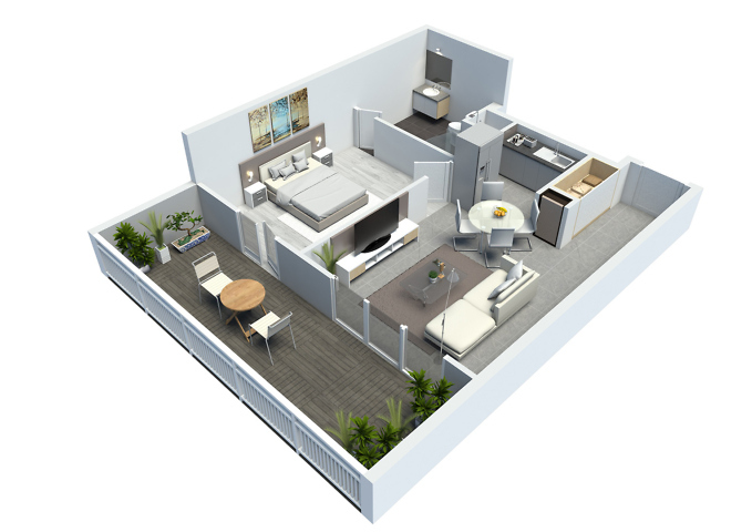 plan de vente - appartement t2 - résidence point d'orgue