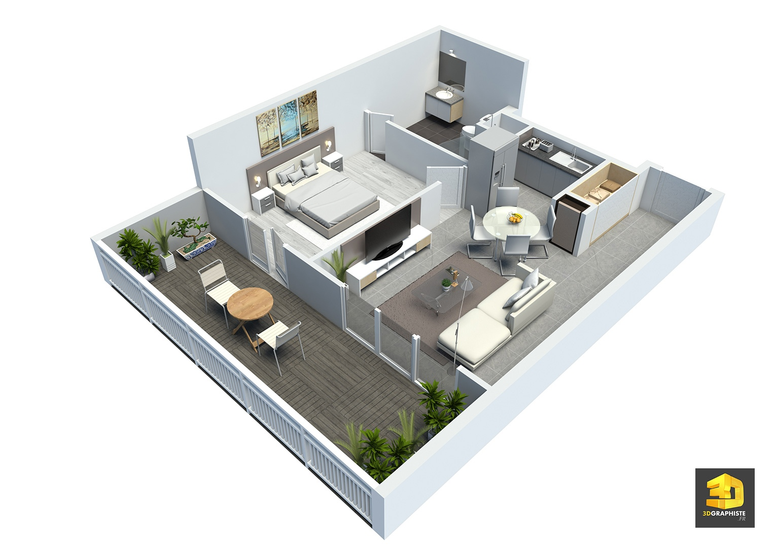 pack de visuels 3d pour programme immobilier r sidence point d 39 orgue 3dgraphiste fr. Black Bedroom Furniture Sets. Home Design Ideas