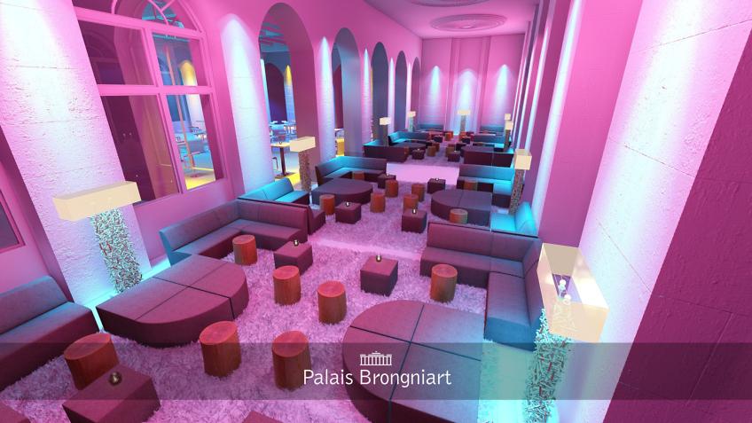 rough 3d évènementiel - palais Brongniart - ambiance chalet