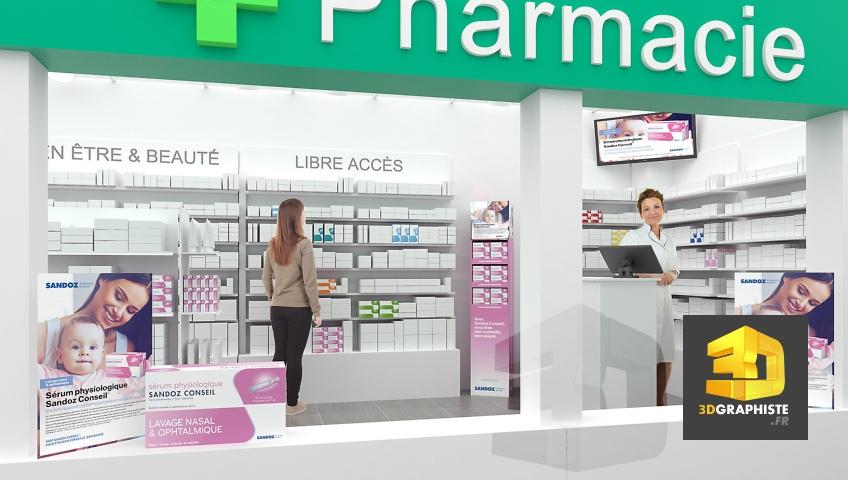 infographiste 3d pharmacie - Sandoz