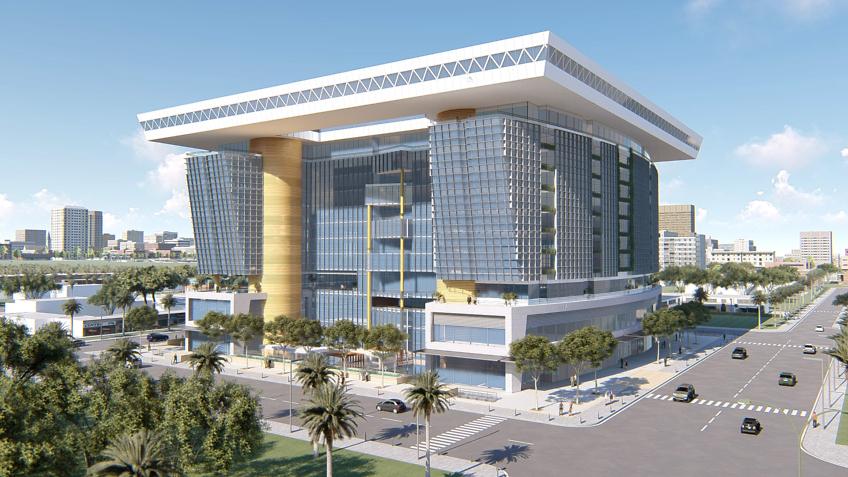 modélisation 3d centre commercial Abidjan